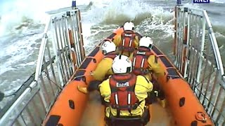 Rnli New Brighton Battle Dangerous Rough Seas To Save Dog.