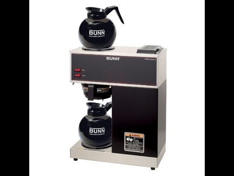 BUNN VPR Commercial 12 Cup Pour Over Coffee Brewer Review - YouTube
