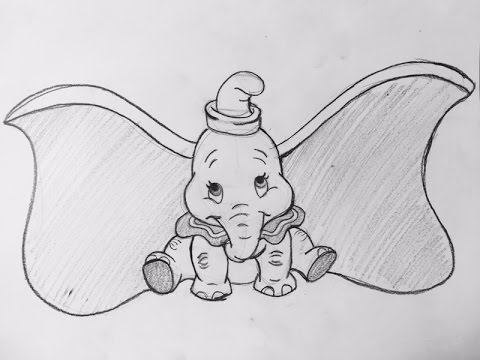 Como dibujar a Dumbo/How to draw dumbo(Disney) - YouTube