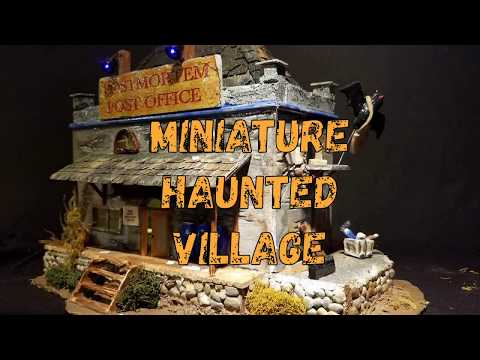 Welcome to CreepyVille - The Handmade Miniature Halloween Village