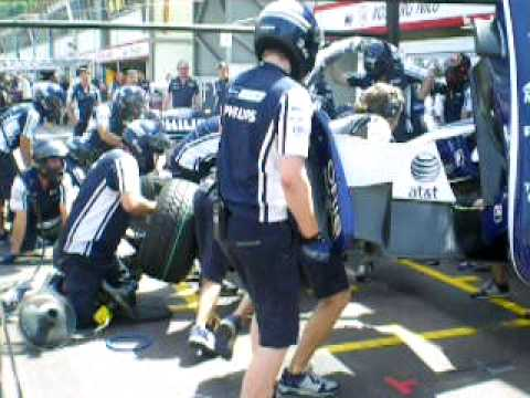 GP Monaco 2009: entrainement changement de roues c...