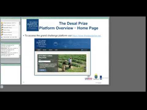 The Desal Prize Webinar: How to Apply
