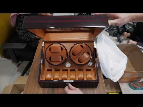 TAIYU Double Head 4+6 Sensor+Lock Watch Winder Kotak Jam Tangan QL018
