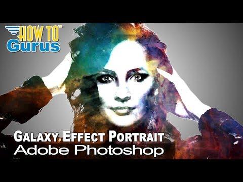 How To Adobe Photoshop Galaxy Effect Technique Portrait Double Exposure Tutorial thumbnail