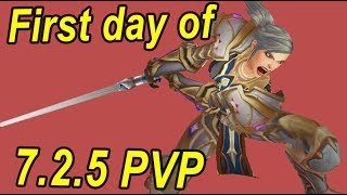 7.2.5 first day PvP - ARMS WARRIOR BROKEN (hotfixed i think)