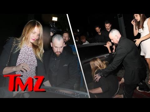 Cameron Diaz Eats It Walking To Her Car! | TMZ