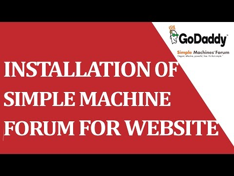 How to installed SIMPLE MACHINE FORUM cms through cpanel ?