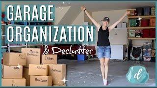 We got rid of 1/2 our stuff! 💙 GARAGE ORGANZATION