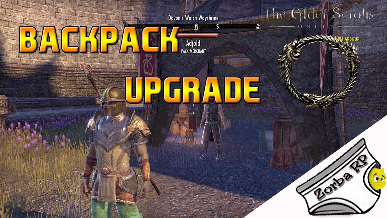 The Elder Scrolls Online Como Expandir Sua Backpack Upgrade