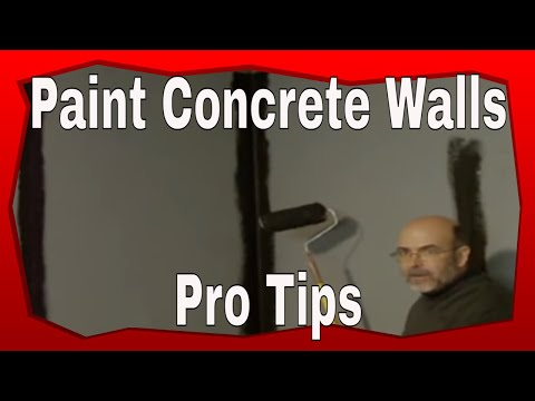 how to paint a concrete wall youtube