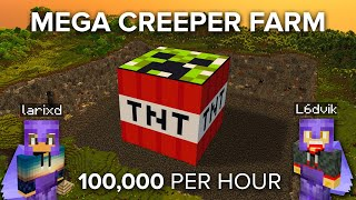 We Built the Biggest Creeper Farm in Minecraft Survival