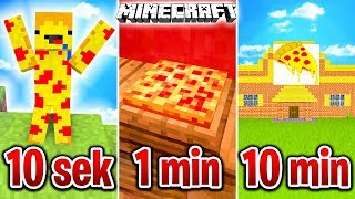 BUDUJĘ PIZZE W 10 SEKUND, 1 MINUTĘ I 10 MINUT!