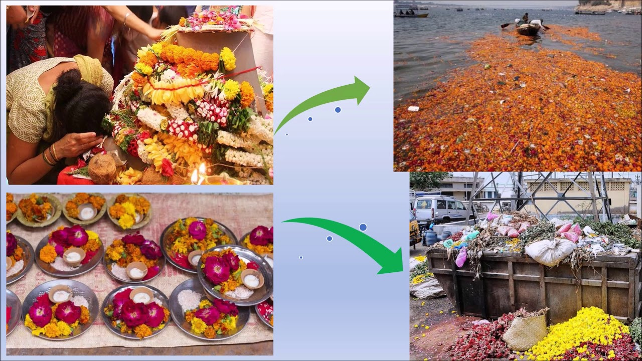 Temple flower waste collection   innovative Design - YouTube