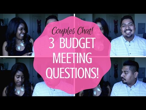 Our Top 3 Budget Meeting Questions: Couples Chat! || How to Budget