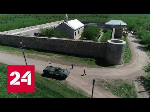 В Нагорном Карабахе миротворцы помогли паломникам из Степанакерта - Россия 24 