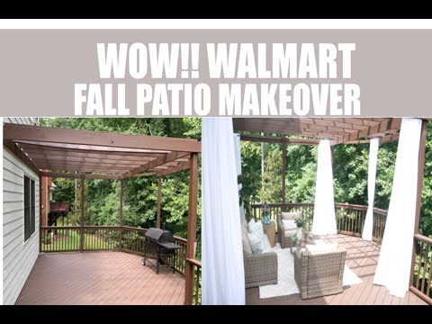 WOW!! Walmart Fall Patio Makeover How to Decorate on a Budget