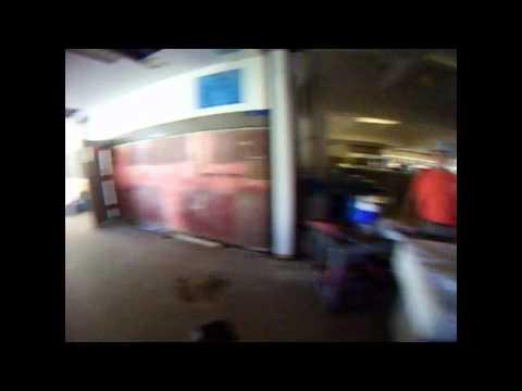 Biking Inside Sprague High School