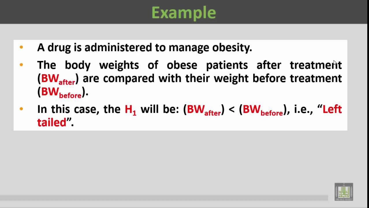 Basic Biostatistics - U2-L7 : One Tail vs Two Tail Tests Examples - 3