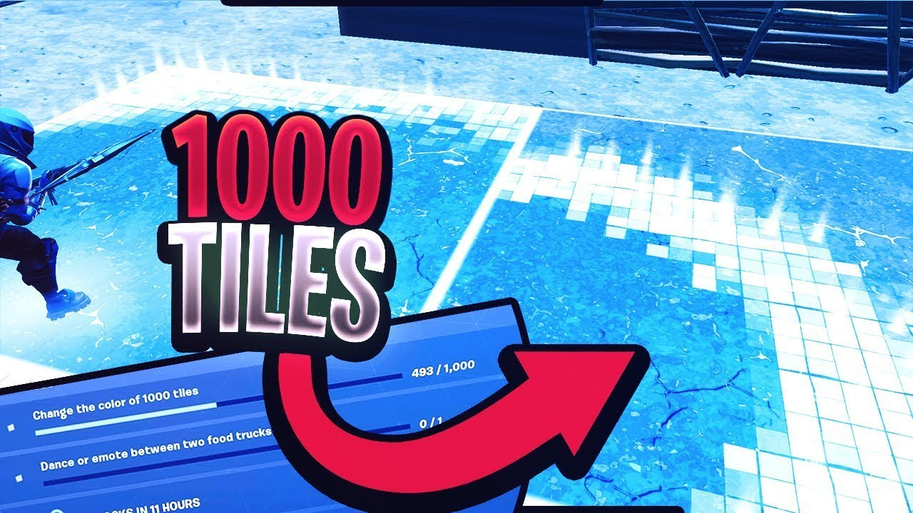 Change The Color Of 1000 Tiles Map Code New Fortnite Mode Downtown Drop Challenge