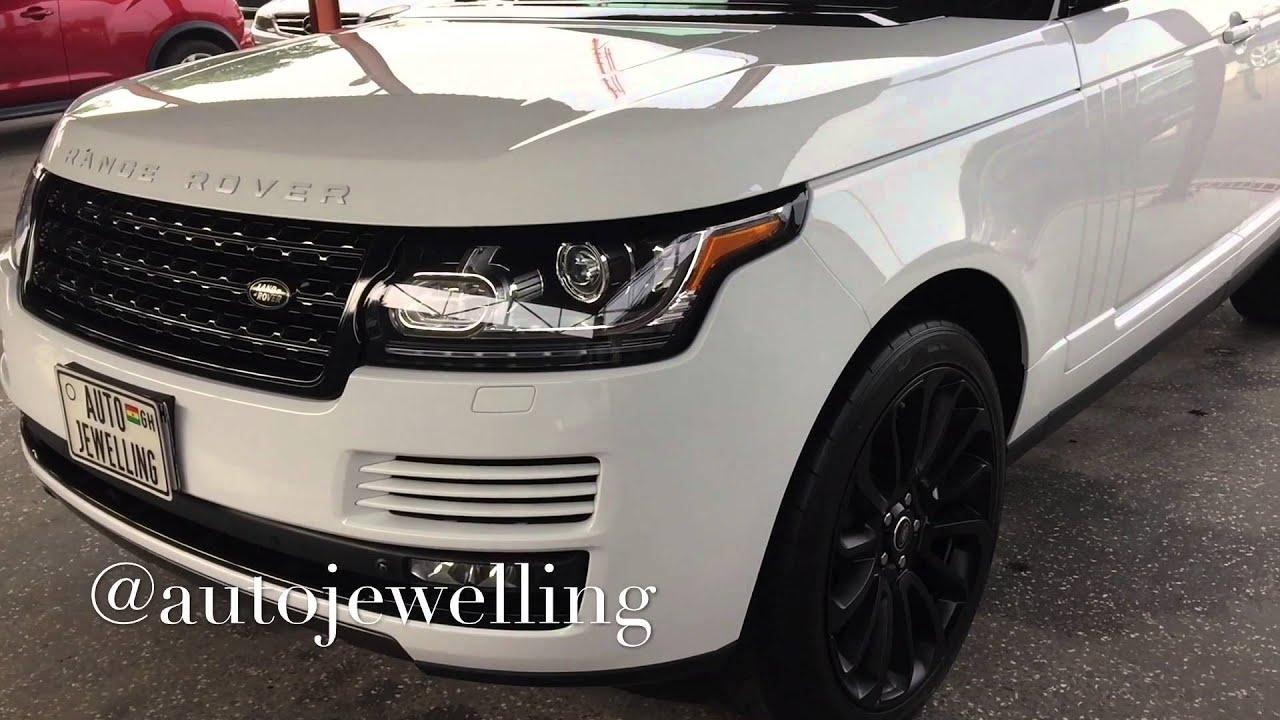 Custom White Range Rover