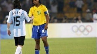 Argentina v Brazil 2008 Beijing Olympics Semifinal 2nd Half English Commentary
