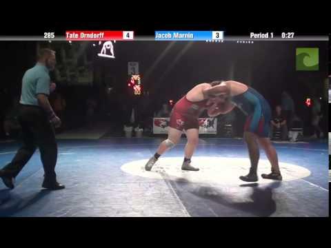285 lbs. 3rd - Tate Orndorff (WA) vs. Jacob Marnin (IA)
