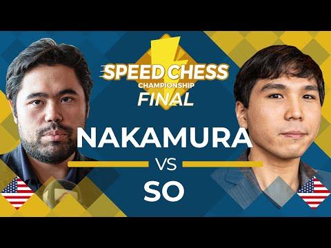 FINAL MATCH: Hikaru Nakamura vs Wesley So   Speed Chess Championship 2019