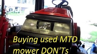 Buying used MTD mower DON'TS