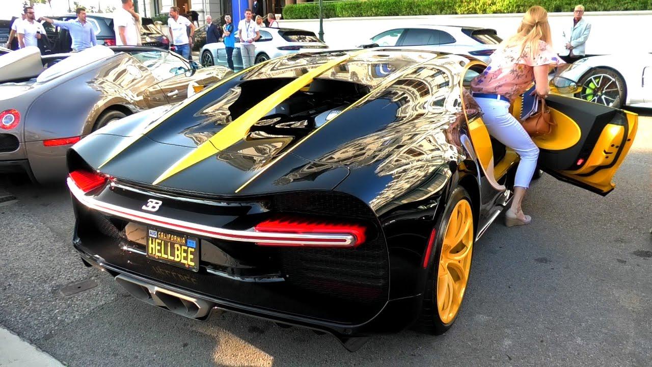 $3Million Black and Yellow Hellbee Bugatti Chiron in Monaco!