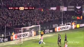 All Goals Feyenoord 1 2 AS Roma 26 02 2015 Europa League