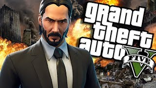 The NEW John Wick MOD (GTA 5 PC Mods Gameplay)