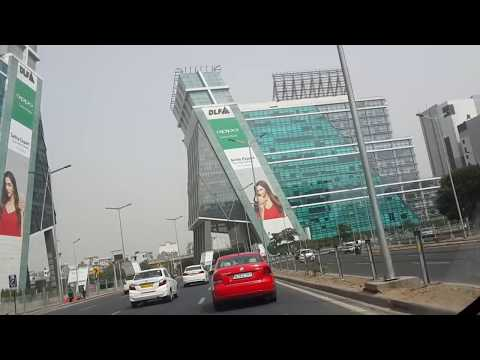 Gurgaon Cyber City to DLF phase 1 underpass. World class standard roads.