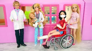 Pink Hospital For Dolls, Pediatrician Doctor dokter RSUD مستشفى Boneca de médico Krankenhaus Hôpital