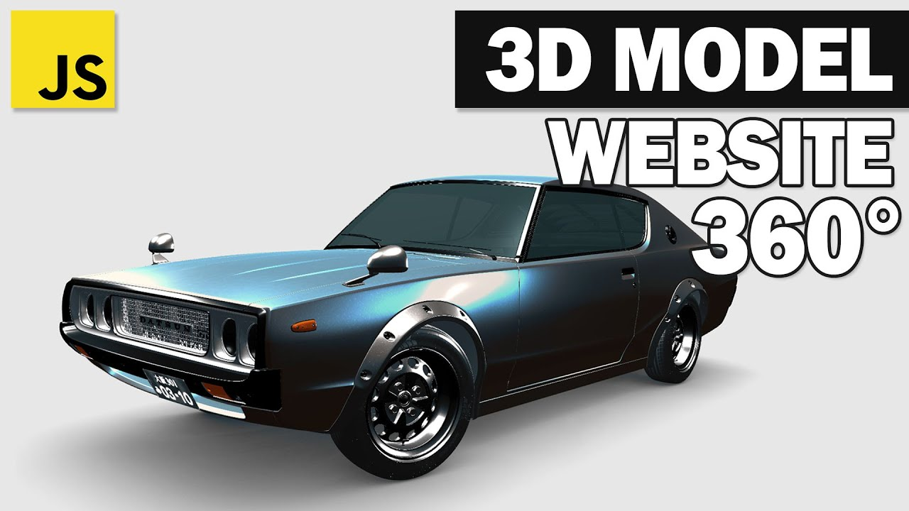 Add 3D Model to WebSite with JavaScript and Three.js in 5 Minutes