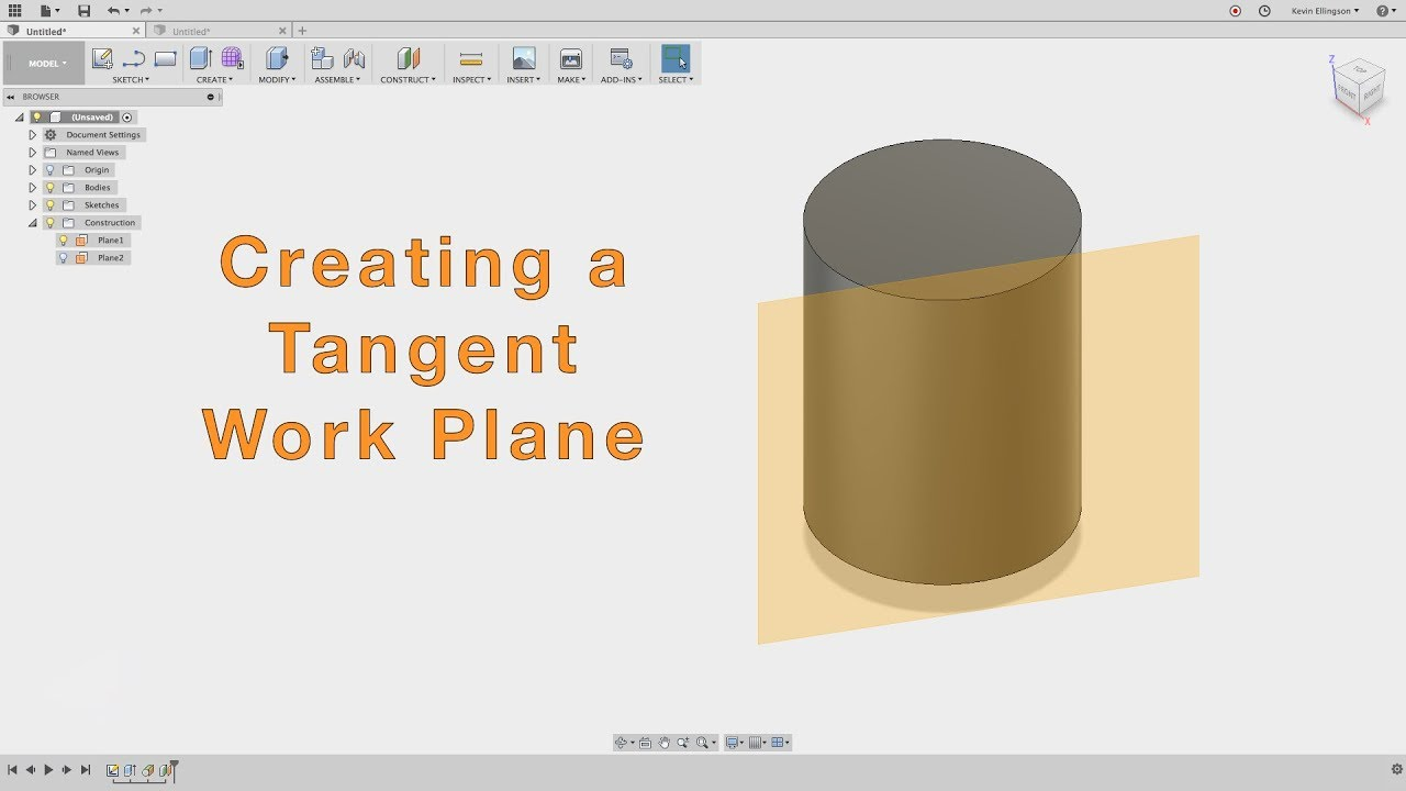 Fusion 360 - Create a Feature on a Cylinder Wall