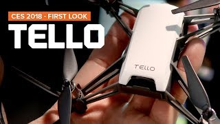 CES 2018 - TELLO drone by Ryze Robotics in partnership with DJI and Intel