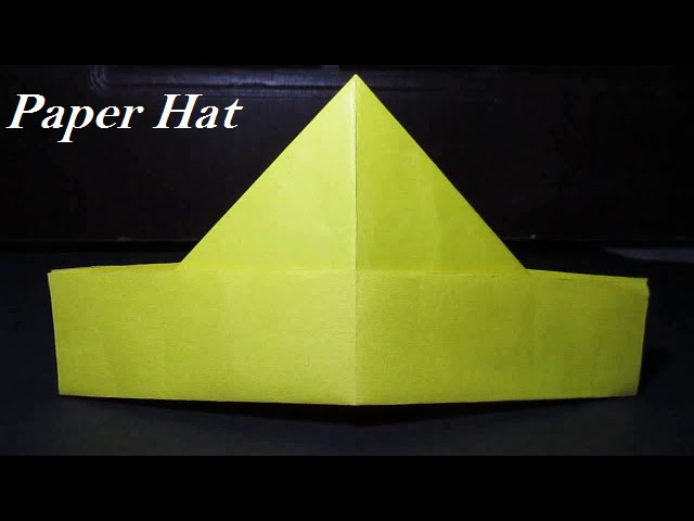 Paper Hat How To Make A Paper Hat Simple Clip