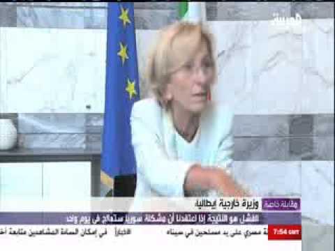 Al-Arabiya interviews Italian MoFA (in Arabic)