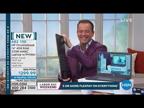 "HP Chromebook 14"" Intel 4G RAM 32GB eMMC Laptop with Pri... thumbnail"