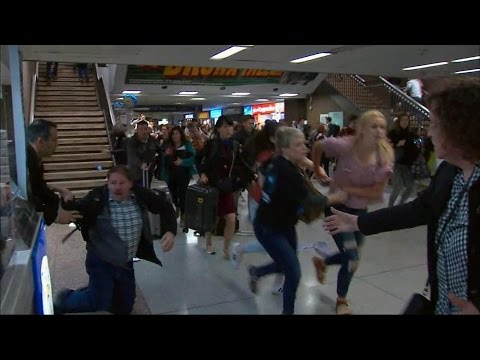 Panic leads to stampede at New York's Penn Station during rush hour