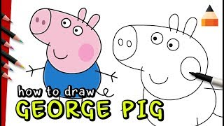 How To Draw George | Drawing Peppa Pig