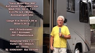 """Unser Wohnmobil """"Vario Star 800"""" (Teil 1 von 2)"""
