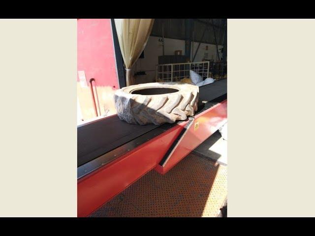 Nido Telescopic Belt Conveyor (TBC) - Loading & Unloading of Tyres