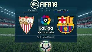 FIFA 18 Sevilla vs Barcelona   La Liga 2017/18   PS4 Full Match