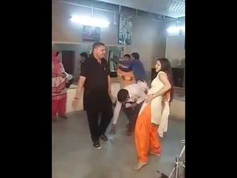 sapna dance.. boys touch his private...