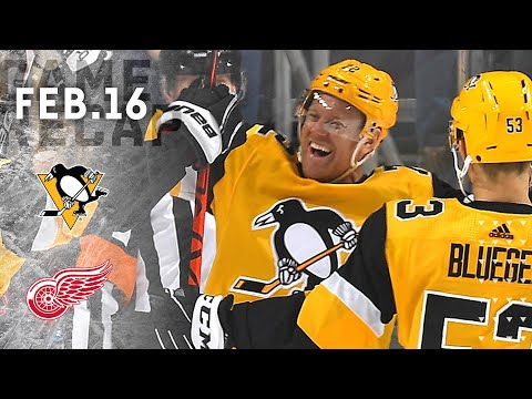 Game Recap: Penguins Vs. Red Wings (02.16.20) | Patric Hornqvist's Three-Point Game
