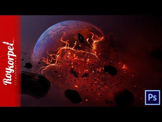 Dead Planet - Photoshop speedart - time-lapse + WALLPAPER