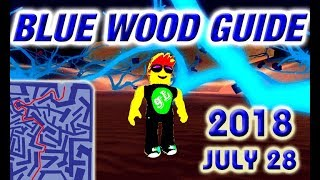Roblox Lumber Tycoon 2 - BLUE WOOD - Maze Guide - Road Map - 28.07.2018