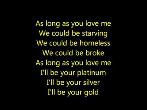 Justin Bieber As Long As You Love Me Acoustic Lyrics HD