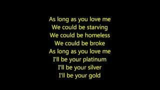 Justin Bieber- As Long As You Love Me Acoustic Lyrics HD